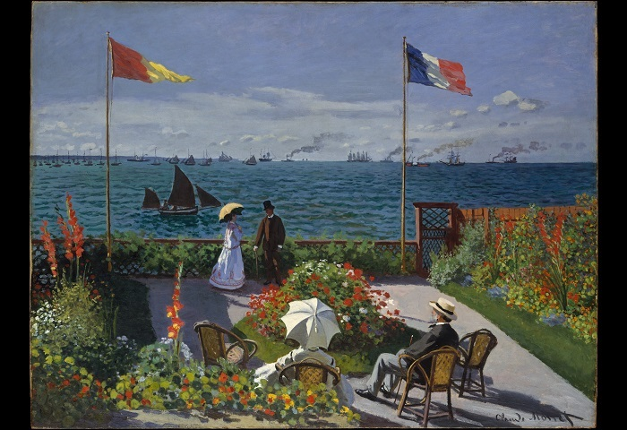 Claude Monet Garden at Sainte Adresse